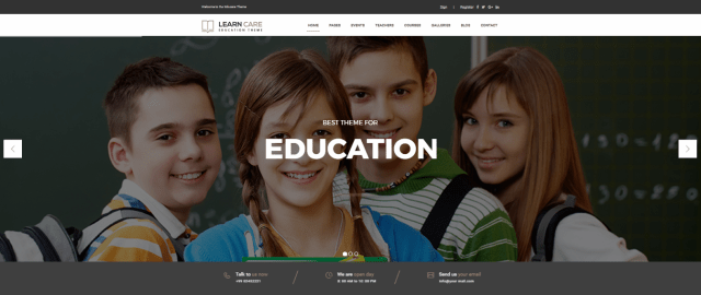 Learn Care, 20+ Best Education WordPress themes 2018, Best education themes 2018