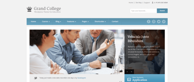 Grand College, 20+ Best Education WordPress themes 2018, Best education themes 2018