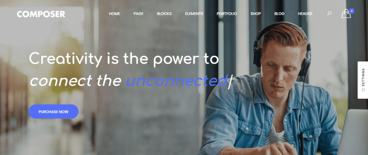 Composer, Best Multipurpose WordPress themes of 2018, Multipurpose WordPress themes
