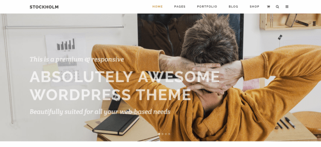 Stockholm, Best Multipurpose WordPress themes of 2018, Multipurpose WordPress themes