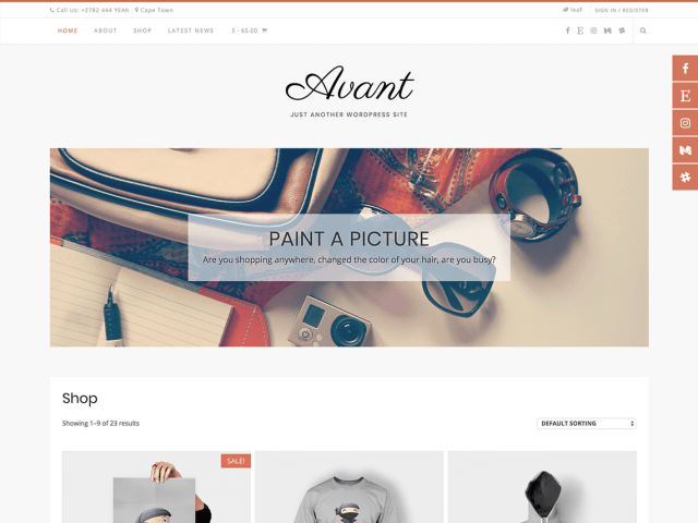 Avant, Free WordPress themes