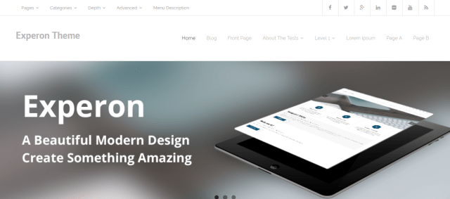 Experon, Free WordPress themes