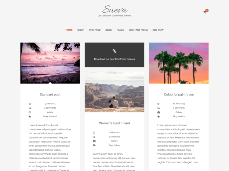 SuevaFree, Free WordPress themes
