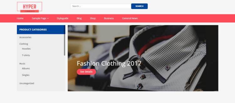 WooCommerce WordPress themes, Hyper Commerce