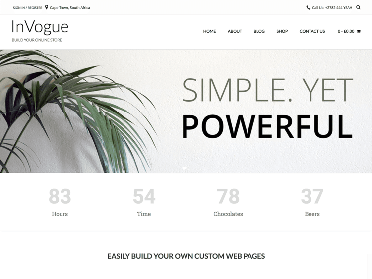WooCommerce WordPress themes, InVouge