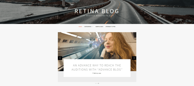 Best Free WordPress Blog themes, retina Blog