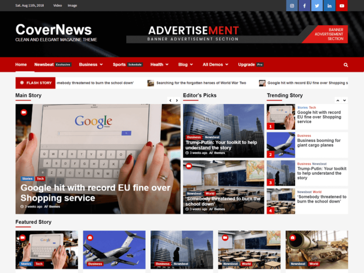 CoverNews-free-responsive-WordPress-blog-themes-WPreviewteam