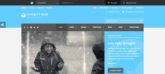 WordPress themes for Nonprofit and charity