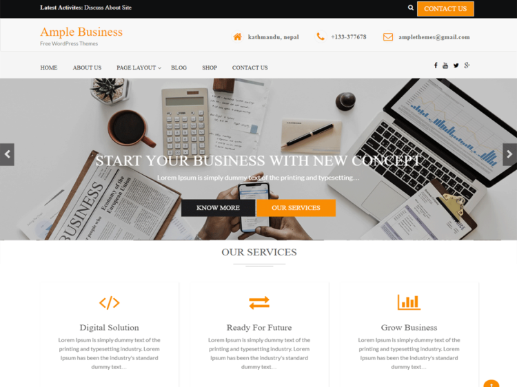 Ample-business-Free-business-WordPress-themes-WPreviewteam