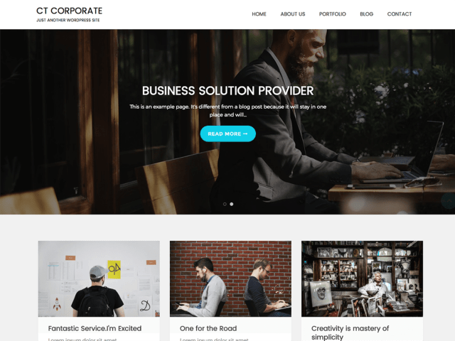 CTCorporate-best-free-business-WordPress-themes-CodePixelz