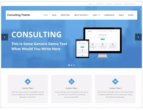 muultipurpose theme for consultancy