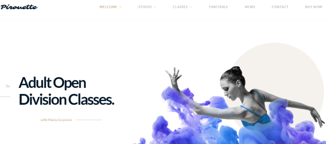 dance academy premium wordpress theme