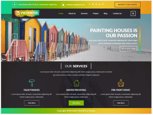 free wordpress theme for painter