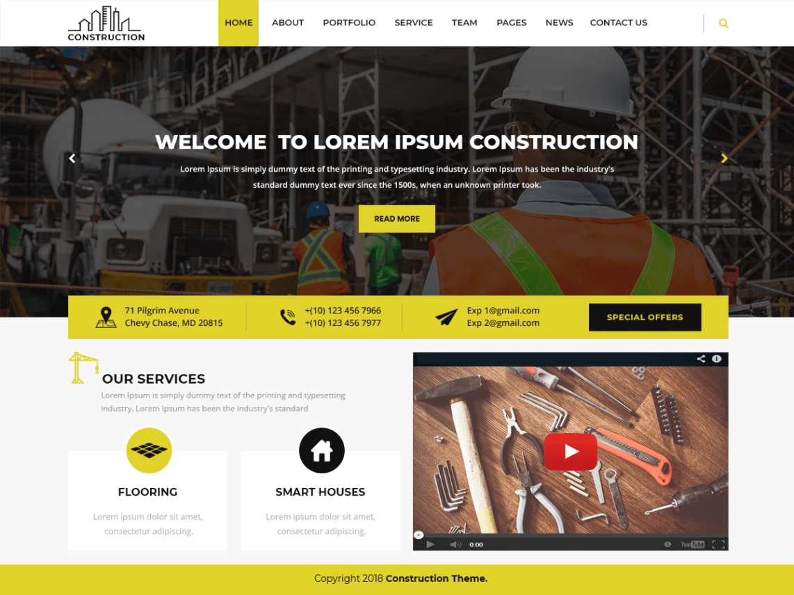 30 Free WordPress Themes for Construction Company - WP