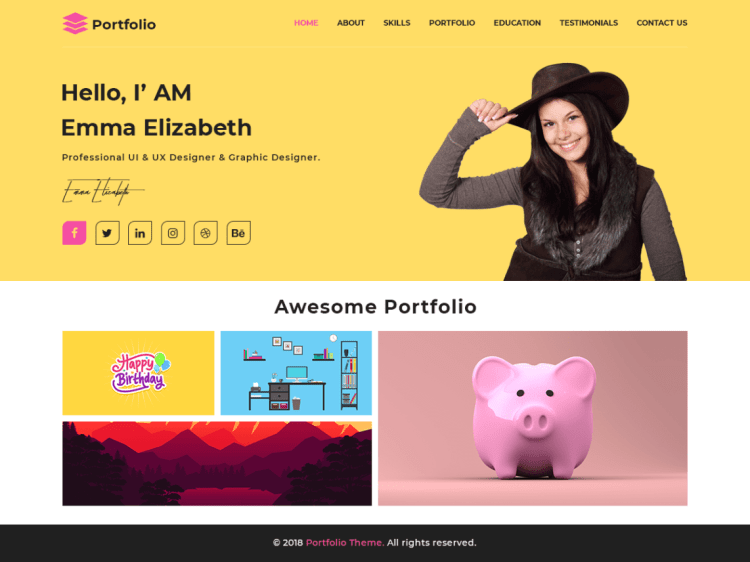 Advance-portfolio-free-responsive-portfolio-WordPress-theme-WPreviewteam