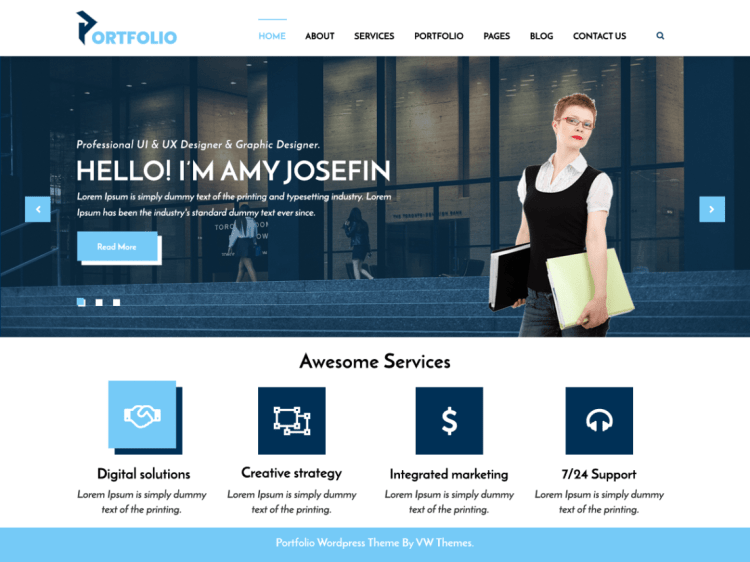 free-WordPress-portfolio-theme-responsive-WPreviewteam-VWportfolio