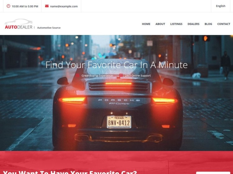 CarListing- WordPress directory theme for auto sellers and dealers, Free WordPress Directory themes for listing