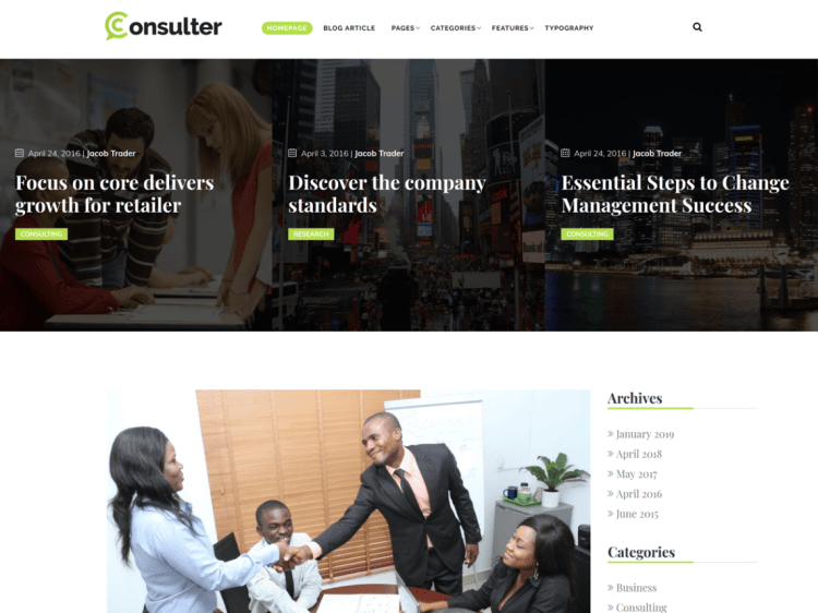 Free WordPress lawyer theme, Consulter