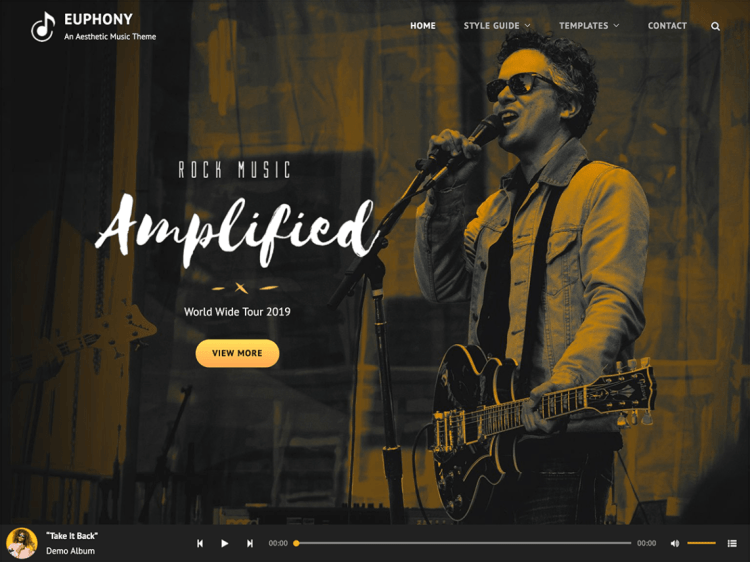 Best free music WordPress themes for musicians