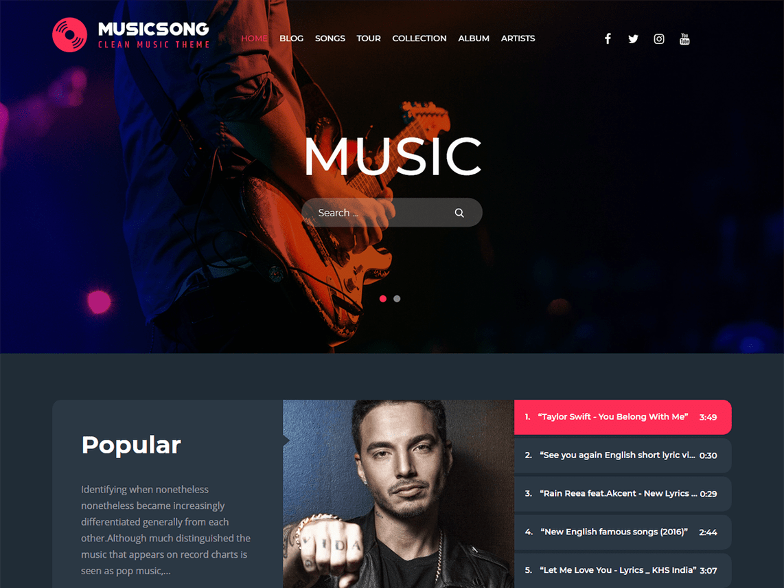 15 Best Free WordPress themes for Musicians - WP Review Team