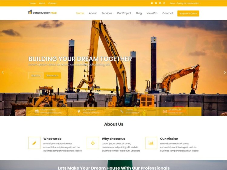 ConstructionField-free-construction-WordPress-themes-WPreviewteam