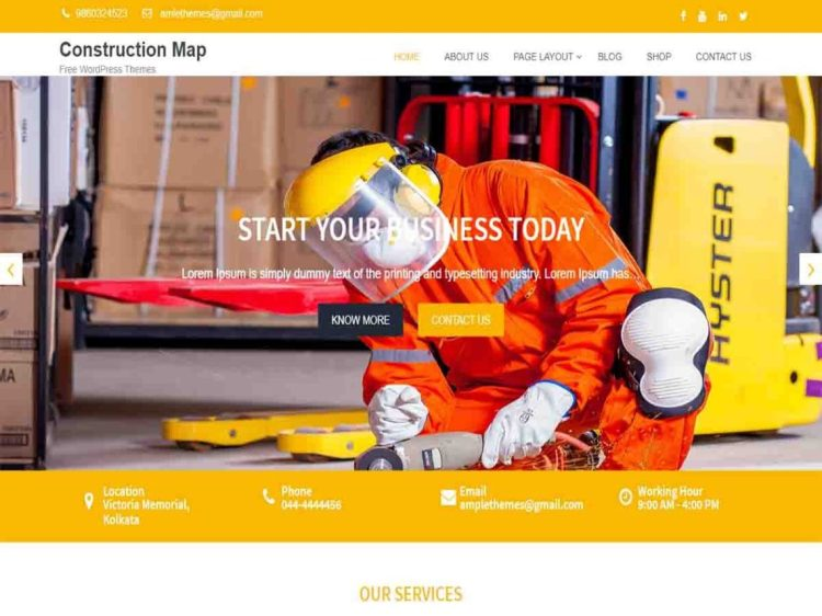Construction-Map-free-WordPress-theme-WPreviewteam