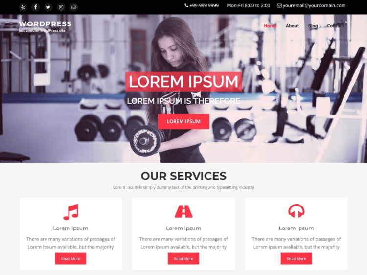iCare-free-WordPress-theme-for -gym&fitness-WPreviewteam