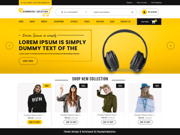 Ecommerce-Solution-free-responsive-WordPress-theme-WPreviewteam