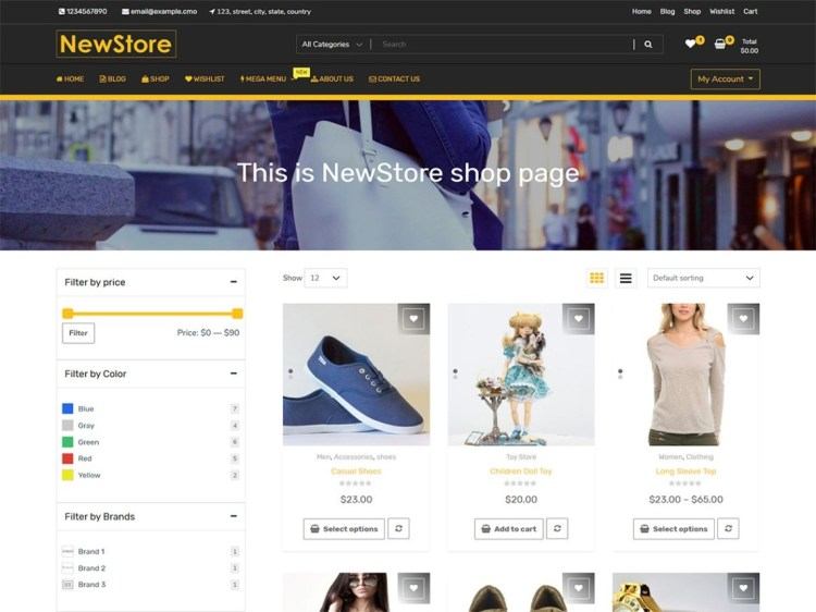 NewStore-free-eCommerce-responsive-WordPress-theme-WPreviewteam