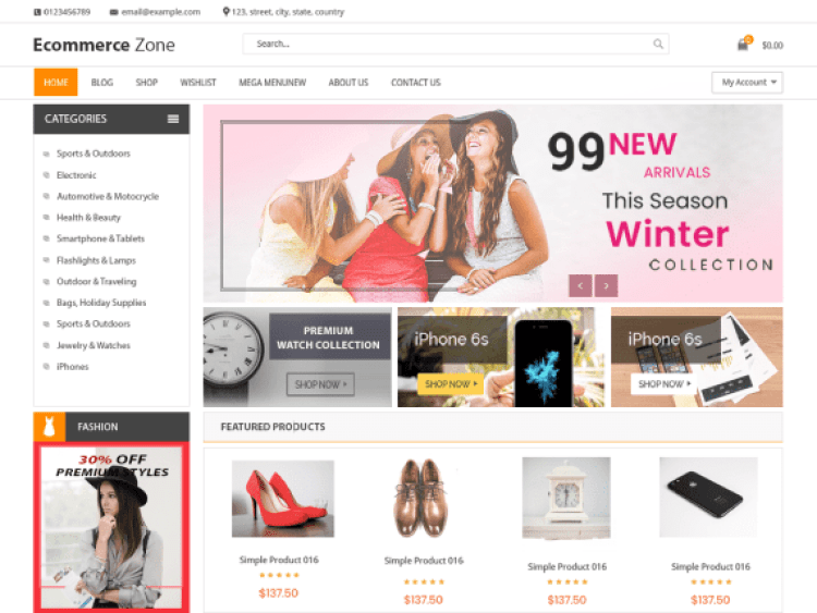 EcommerceZone-best-free-responsive-WordPress-themes-WPreviewteam