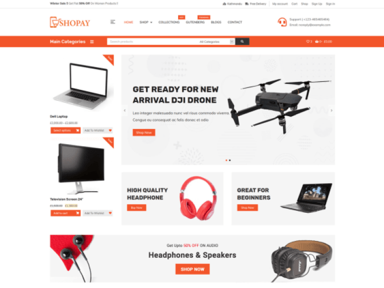 Shopay-best-free-ecommerce-WordPress-theme-WPreviewteam