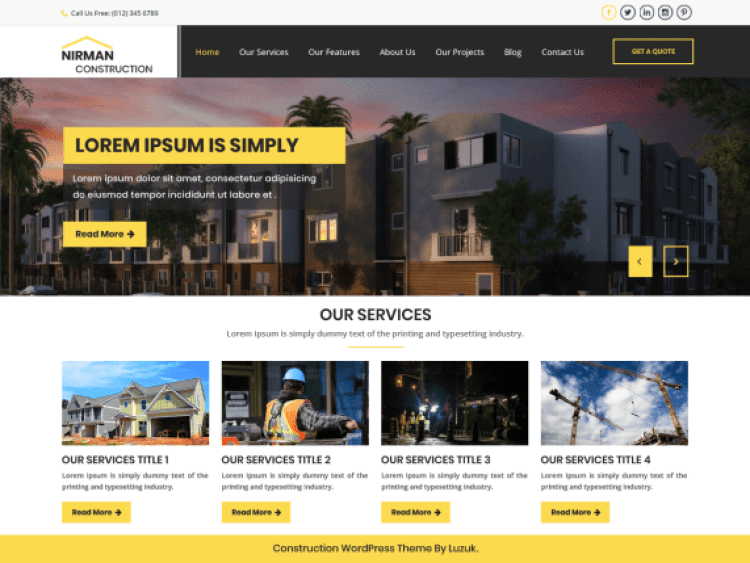 NirmanConstruction-best-free-construction-archiects-WordPress-themes-WPreviewteam