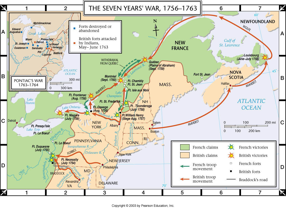 Atlas Map The Seven Years War