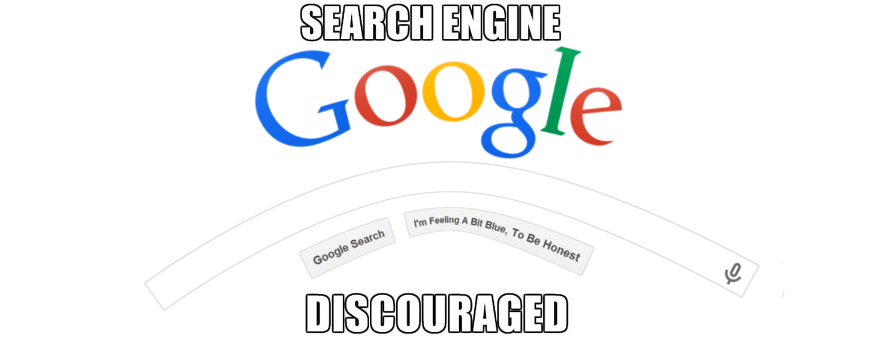 search engine discouraged