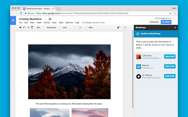 Write WordPress Posts in Google Docs with Jetpack and a Chrome