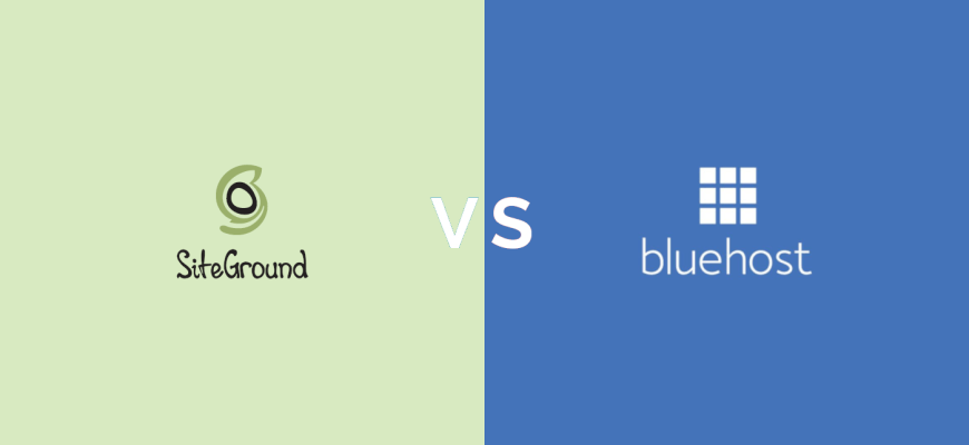 siteground vs bluehost comparison 2019