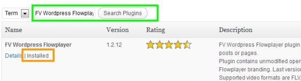 Install Video Plugin