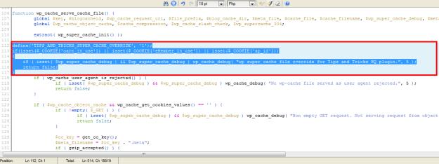 WP eStore - WP Super Cache - Code edit