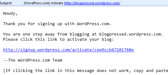 Click the confirmation link in the email
