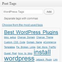 WordPress Post Tags Example