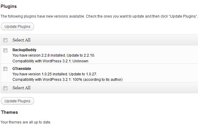 Dashboard-Updates