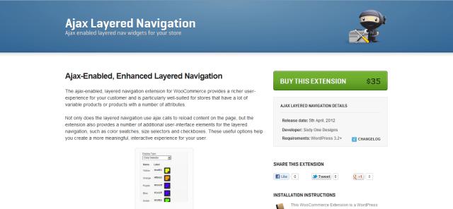 Ajax Layered Navigation