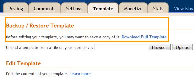 Backup Template