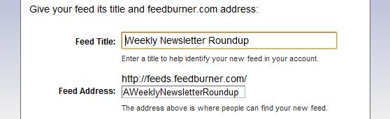 Burning RSS Feed URL