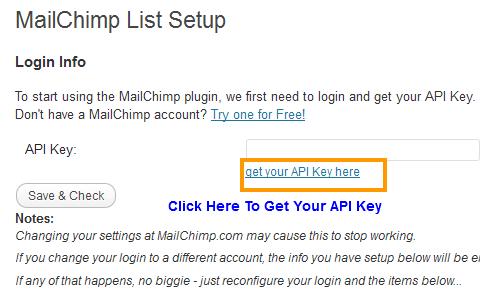 MailChimp Setup