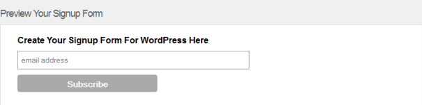 Signup Form Preview