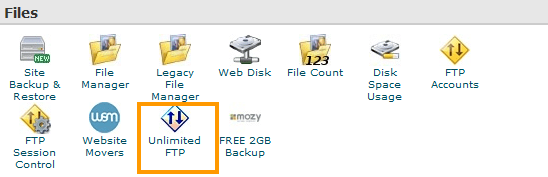 Unlimited FTP in cPanel