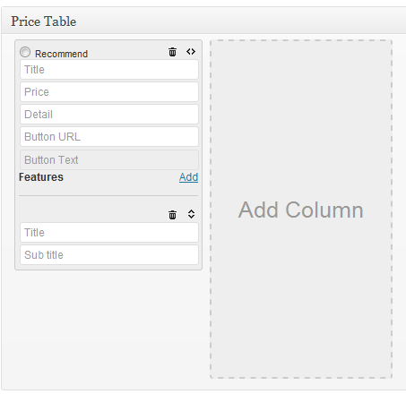 Pricing Table Columns