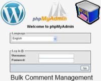 PHP My Admin Bulk Comment Management