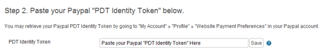 Paypal PDT Identity Token